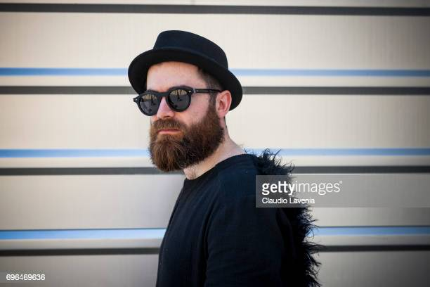 Daniel Horvath wearing a black outfit is seen during Pitti Immagine Uomo 92 at Fortezza Da Basso on June 15 2017 in Florence Italy
