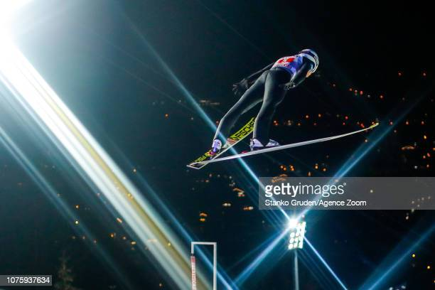 Daniel Huber of Austria in action during the FIS Nordic World Cup Four Hills Tournament on December 30 2018 in Oberstdorf Germany