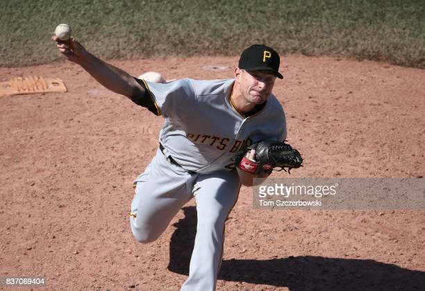 Daniel Hudson of the Pittsburgh Pirates delivers a pitch in the eighth inning during MLB game action against the Toronto Blue Jays at Rogers Centre...