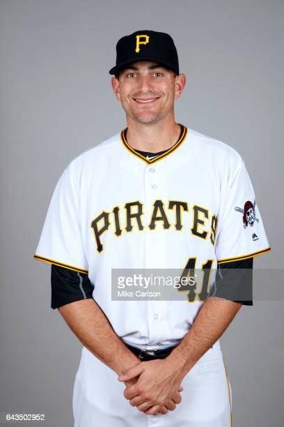 Daniel Hudson of the Pittsburgh Pirates poses during Photo Day on Sunday February 19 2017 at LECOM Park in Bradenton Florida