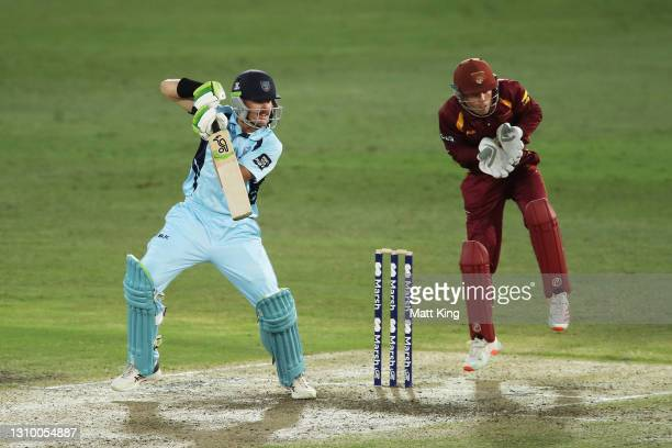 Daniel Hughes of New South Wales bats during the Marsh One Day Cup match between New South Wales and Queensland at North Sydney Oval on March 31,...