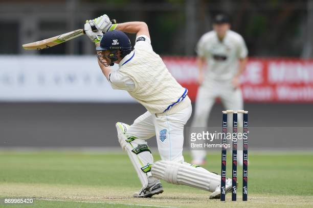 Daniel Hughes of NSW bats during day one of the Sheffield Shield match between New South Wales and Western Australia at Hurstville Oval on November 4...