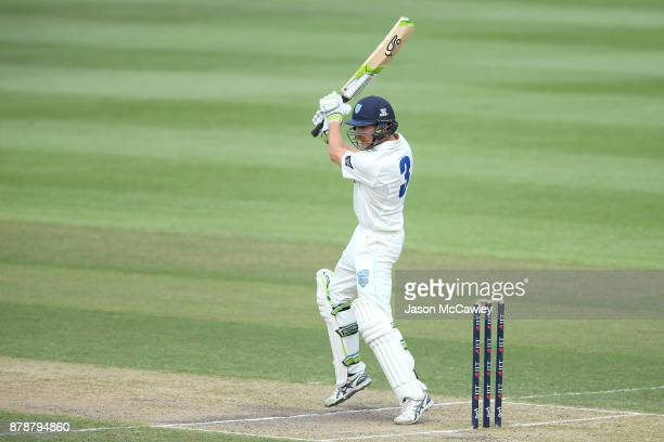 Daniel Hughes of NSW bats during day two of the Sheffield Shield match between New South Wales and Victoria at North Sydney Oval on November 25 2017...