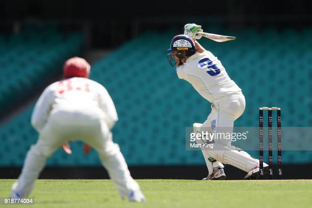 Daniel Hughes of the Blues bats during day one of the Sheffield Shield match between New South Wales and South Australia at Sydney Cricket Ground on...