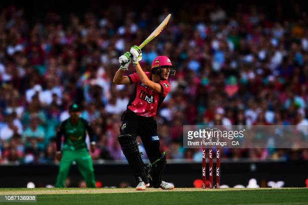 Daniel Hughes of the Sixers bats during the Big Bash League match between the Sydney Sixers and the Melbourne Stars at Sydney Cricket Ground on...