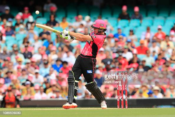 Daniel Hughes of the Sixers bats during the Sydney Sixers ...