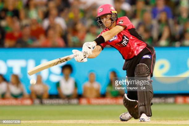 Daniel Hughes of the Sydney Sixers bats during the Big Bash League match between the Melbourne Stars and the Sydney Sixers at Melbourne Cricket...