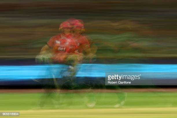 Daniel Hughes of the Sydney Sixers runs during the Big Bash League match between the Melbourne Stars and the Sydney Sixers at Melbourne Cricket...