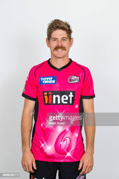 Daniel Hughes poses during the Sydney Sixers BBL headshots session at Sydney Cricket Ground on December 9 2017 in Sydney Australia