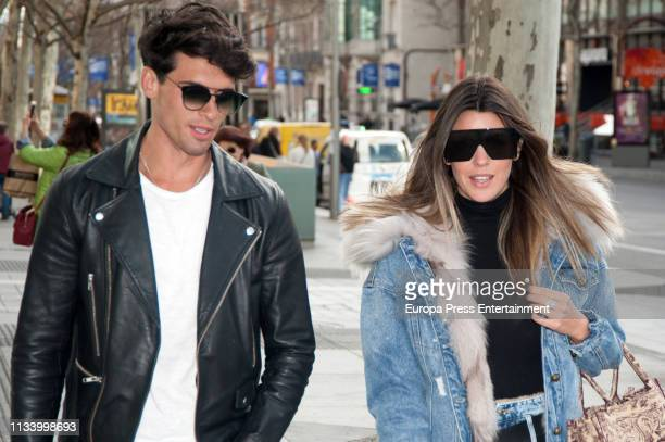 Daniel Illescas and Laura Matamoros are seen on March 05 2019 in Madrid Spain