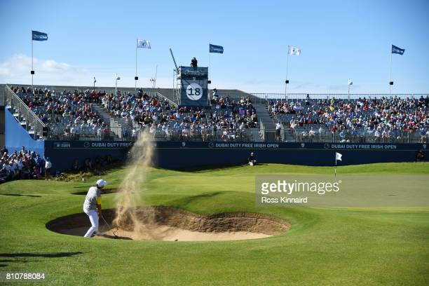 Daniel Im of the United States hits his third shot on the 18th hole during day three of the Dubai Duty Free Irish Open at Portstewart Golf Club on...