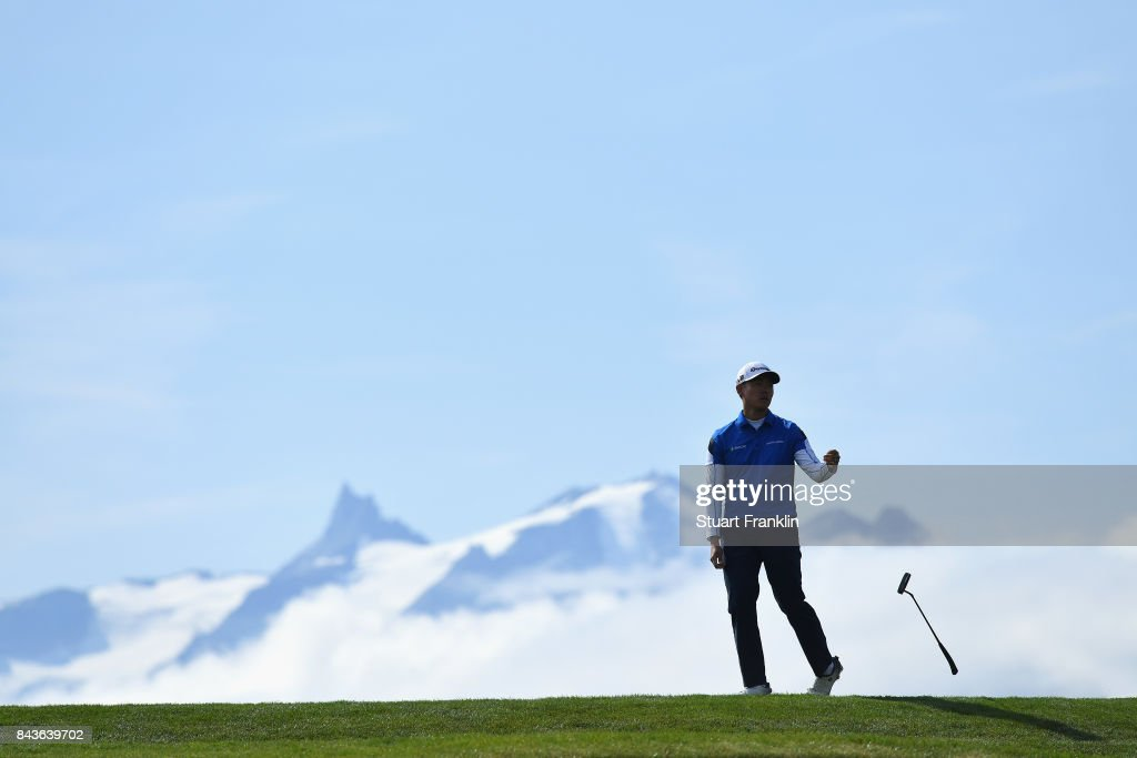 Daniel Im of The United States on the 7th during day one of the 2017 Omega European Masters at Crans-sur-Sierre Golf Club on September 7, 2017 in Crans-Montana, Switzerland.
