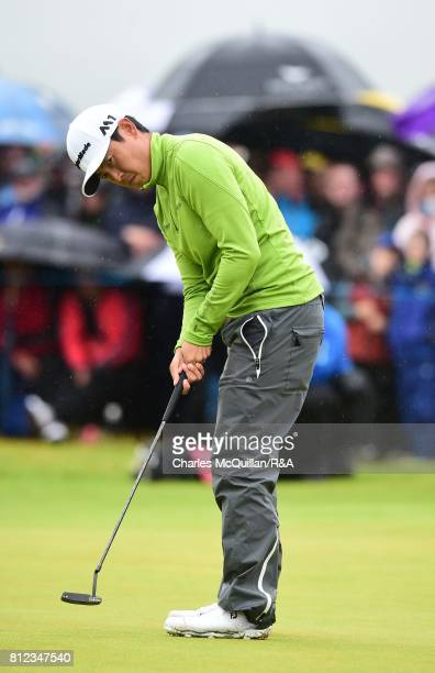 Daniel Im of USA on the 18th green during the final round of the Dubai Duty Free Irish Open hosted by the Rory Foundation at Portstewart Golf Club on...