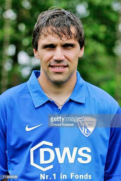 Daniel Imhof poses during the Bundesliga Team Presentation of VfL Bochum at the Trainings Ground on June 26 2006 in Bochum Germany