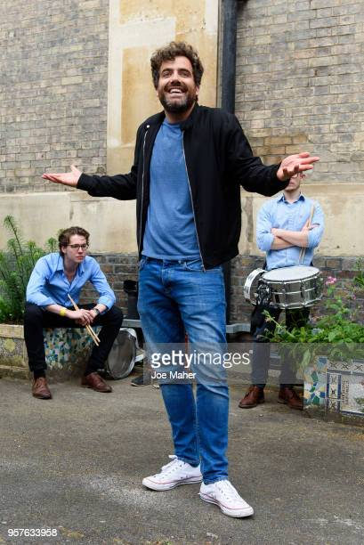 Daniel Ings performs scenes from 'Much Ado About Nothing' to the crowds of people whilst on procession from the National Theatre to The Old Vic to...