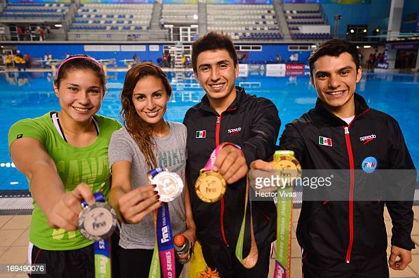 Daniel Islas Dolores Hernandez Paola Espinosa and Yahel Castillo during the Women's 3 meters Synchronized Springboard Finals of the FINA MIDEA Diving...