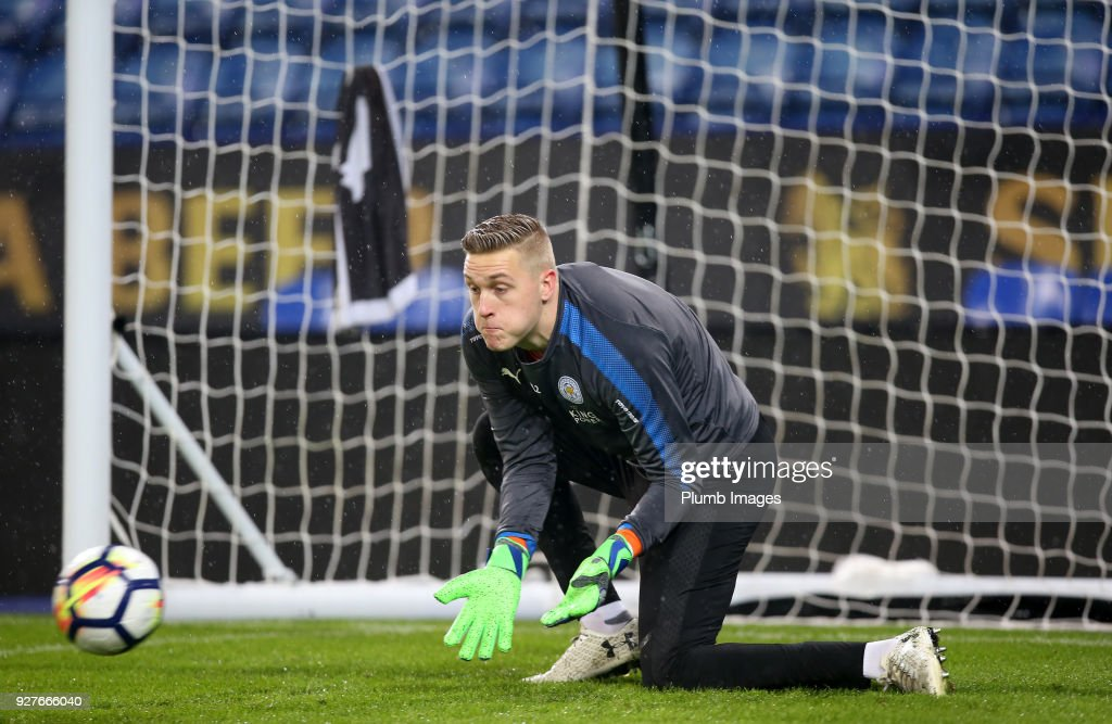 Daniel Iversen of Leicester City warms up ahead of the Premier League 2 match between Leicester City and Liverpool at King Power Stadium, on March 5th, 2018 in Leicester, United Kingdom