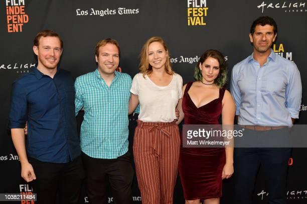 Daniel J Clark Nick Andert Caroline Clark Hannalore GerlingDunsmore and Spiros Michalakis attend the 2018 LA Film Festival screening of Behind The...