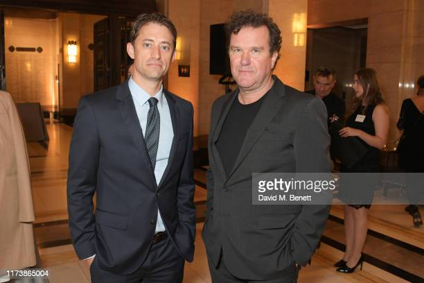 Daniel J Jones and Douglas Hodge attend The Academy Of Motion Pictures Arts And Sciences 2019 New Members Party during the 63rd BFI London Film...