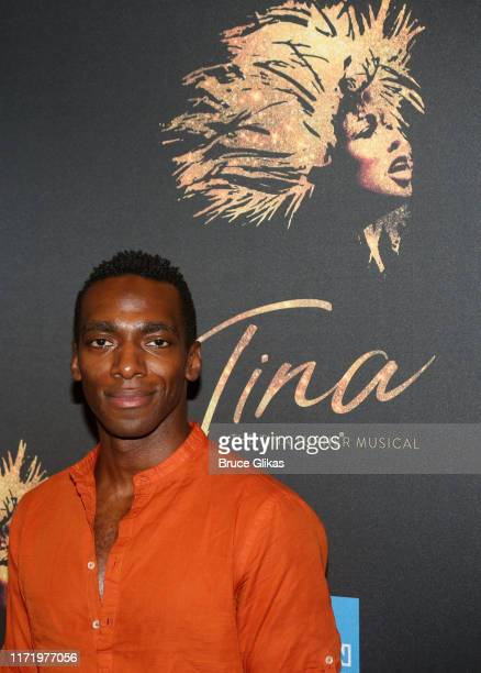 Daniel J Watts poses at a photo call for the new broadway musical Tina The Tina Turner Musical at The New 42nd Street Studios on September 3 2019 in...