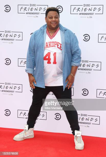 Daniel Jacob aka Vinegar Strokes during Comedy Central's FriendsFest: London Photocall at Clapham Common on June 24, 2021 in London, England.