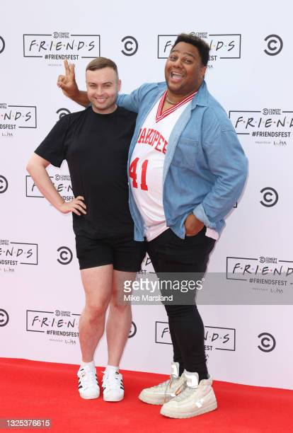 Daniel Jacob and Luke Underwood during Comedy Central's FriendsFest: London Photocall at Clapham Common on June 24, 2021 in London, England.