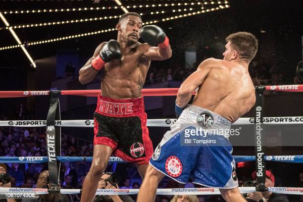 Daniel Jacobs defeats Sergiy Derevyanchenko by Split Decision during their IBF Middleweight Championship fight at Madison Square Garden on October...