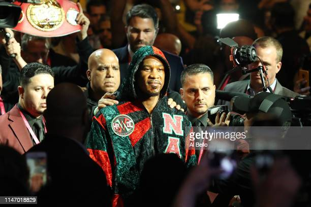 Daniel Jacobs walks to the ring prior to his middleweight unification fight against Canelo Alvarez at T-Mobile Arena on May 04, 2019 in Las Vegas,...