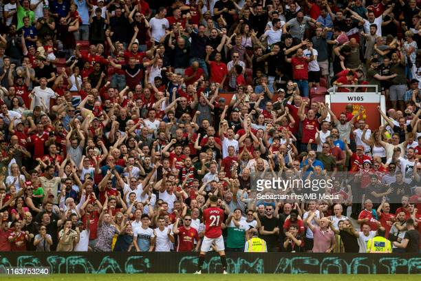 Daniel James of Manchester United celebrate after scoring goal during the Premier League match between Manchester United and Crystal Palace at Old...