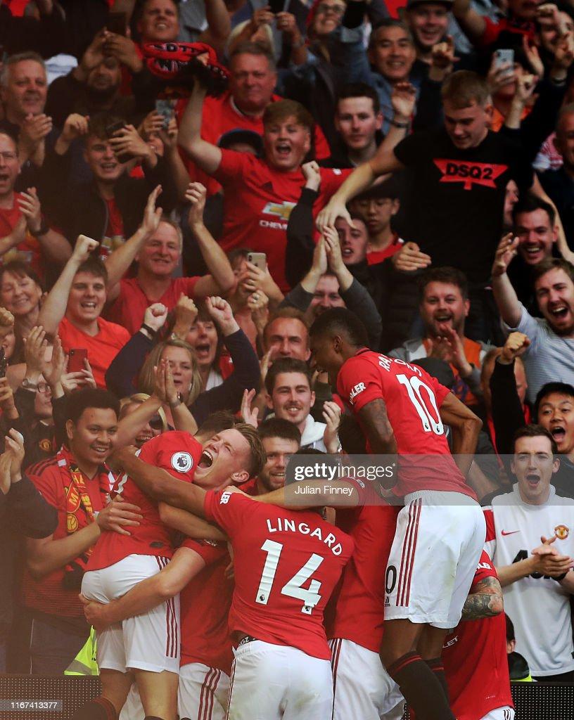 Daniel James Of Manchester United Celebrating Scoring The