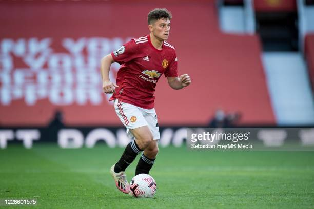 Daniel James of Manchester United control ball during the Premier League match between Manchester United and Crystal Palace at Old Trafford on...