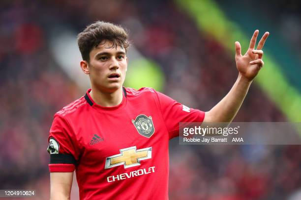 Daniel James of Manchester United during the Premier League match between Manchester United and Watford FC at Old Trafford on February 23 2020 in...