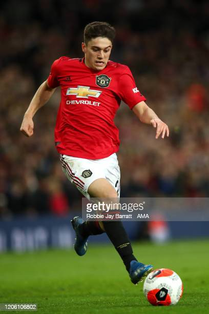 Daniel James of Manchester United during the Premier League match between Manchester United and Manchester City at Old Trafford on March 8 2020 in...