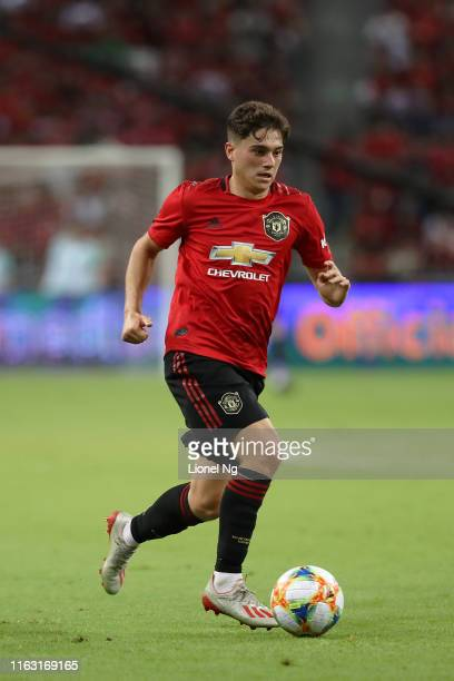 Daniel James of Manchester United in action during the 2019 International Champions Cup match between Manchester United and FC Internazionale at the...