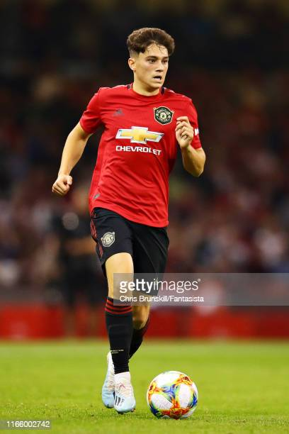 Daniel James of Manchester United in action during the 2019 International Champions Cup match between Manchester United and AC Milan at Principality...