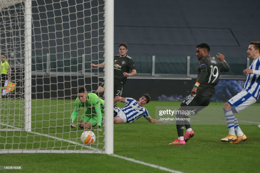 Real Sociedad v Manchester United  - UEFA Europa League Round Of 32 Leg One : ニュース写真