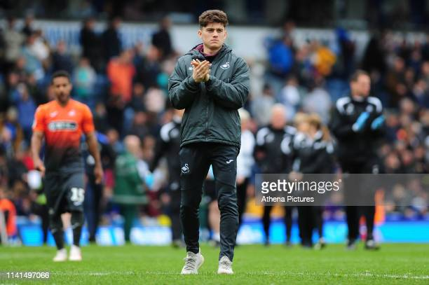 Daniel James of Swansea City applauds the fans at the final whistle during the Sky Bet Championship match between Blackburn Rovers and Swansea City...