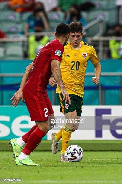Daniel James of Wales during the UEFA Euro 2020 Championship Group A match between Turkey and Wales at Baku Olimpiya Stadionu on June 16, 2021 in...