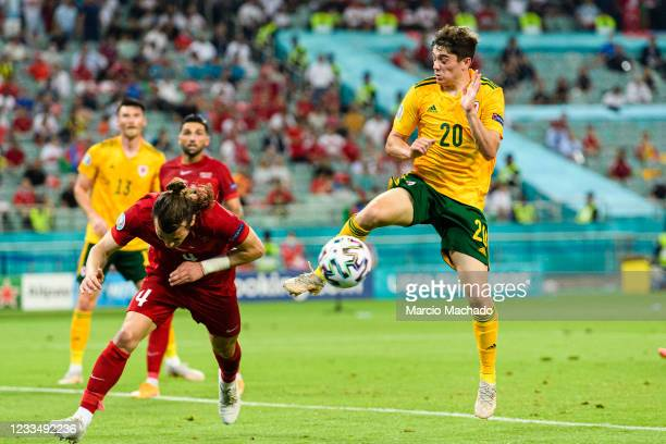 Daniel James of Wales in action during the UEFA Euro 2020 Championship Group A match between Turkey and Wales on June 16, 2021 in Baku, Azerbaijan.