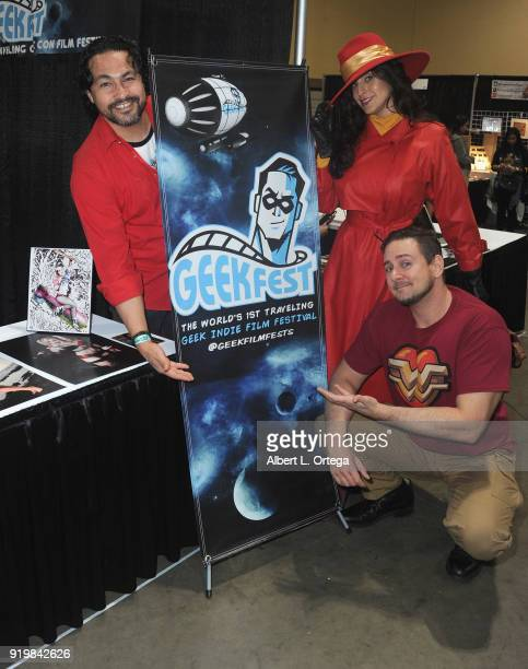 Daniel Jassim Valerie Perez and Johnnie Griffing attend day 1 of the 8th Annual Long Beach Comic Expo held at Long Beach Convention Center on...