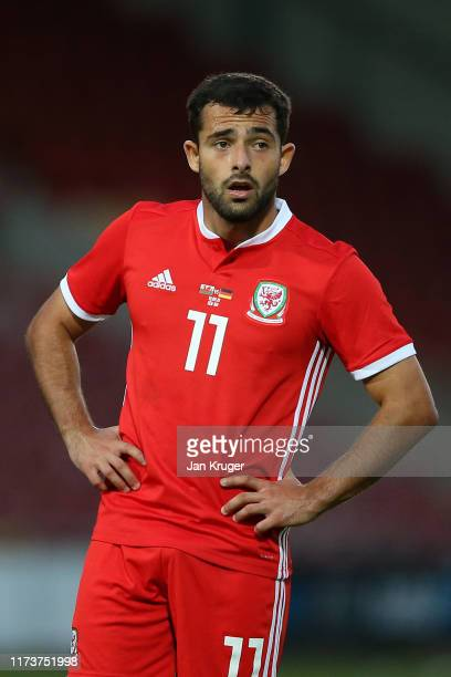 Daniel John Mooney of Wales during the international friendly match between U21 Wales and U21 Germany at Racecourse Ground on September 10 2019 in...