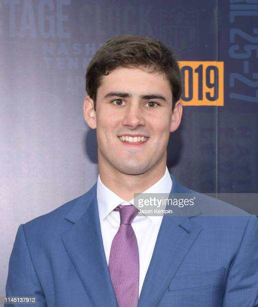Daniel Jones attends the 2019 NFL Draft on April 25 2019 in Nashville Tennessee