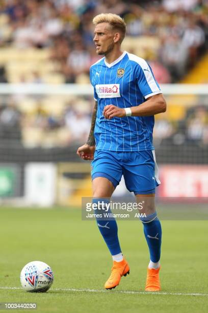 Daniel Jones of Notts County during the preseason match between Notts County and Leicester City at Meadow Lane on July 21 2018 in Nottingham England