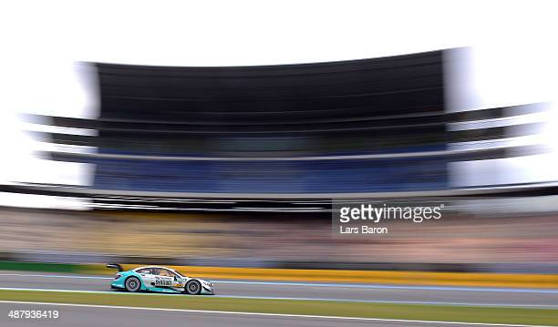 Daniel Juncadella of Spain and Mercedes Muecke Motorsport drives during a training session prior to the qualifying for the first round of the DTM...