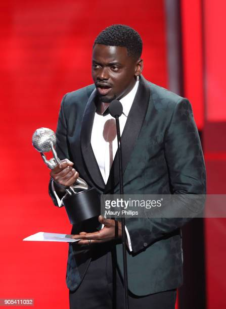 Daniel Kaluuya accepts the Outstanding Actor in a Motion Picture award for 'Get Out' onstage during the 49th NAACP Image Awards at Pasadena Civic...