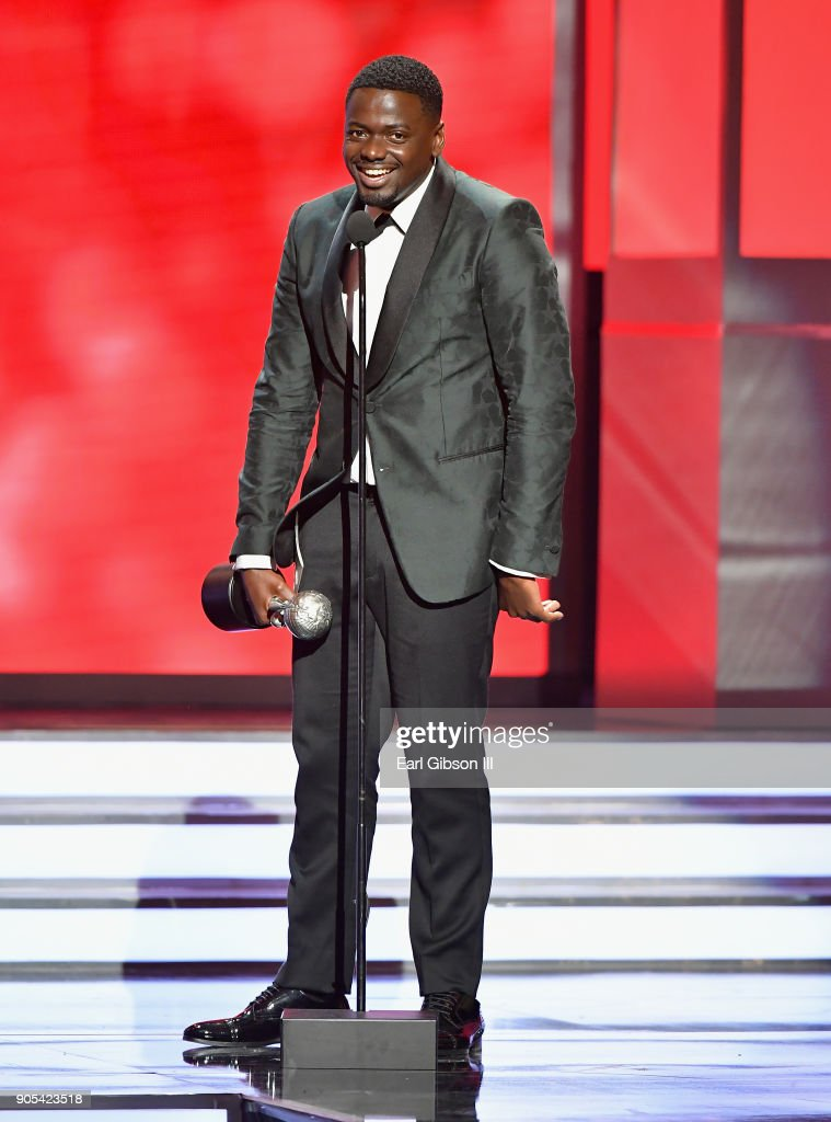 Daniel Kaluuya accepts the Outstanding Actor in a Motion Picture award for 'Get Out' onstage at the 49th NAACP Image Awards on January 15, 2018 in Pasadena, California.