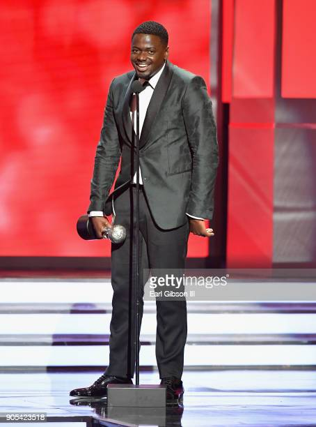 Daniel Kaluuya accepts the Outstanding Actor in a Motion Picture award for 'Get Out' onstage at the 49th NAACP Image Awards on January 15 2018 in...