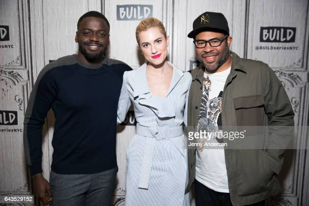 Daniel Kaluuya Allison Williams and Jordan Peele attend the Build Series to discuss their new film 'Get Out' at Build Studio on February 21 2017 in...