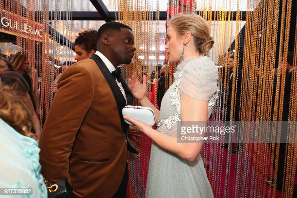 Daniel Kaluuya and Emily Blunt attend the 90th Annual Academy Awards at Hollywood Highland Center on March 4 2018 in Hollywood California