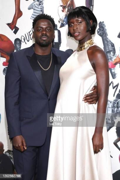 Daniel Kaluuya and Jodie TurnerSmith attend the Queen Slim UK Premiere at Rich Mix Cinema on January 28 2020 in London England